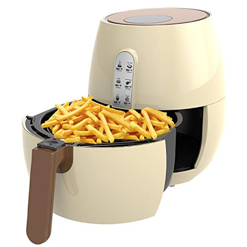 Air Fryer, SincaLong Oven Oilless Cooker with 7 Cooking Presets, Large Capacity 3.5L Electric Air Fryer with LED Digital Touchscreen