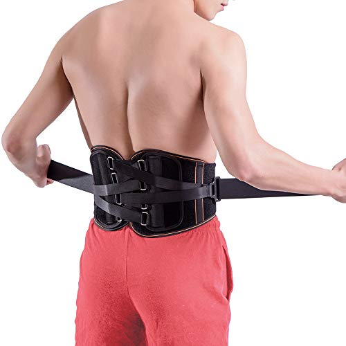 Lower Back Brace Pain Relief with Pulley System - Lumbar Support Belt for Women and Men - Adjustable Waist Straps for Sciatica, Spinal Stenosis, Scoliosis or Herniated Disc