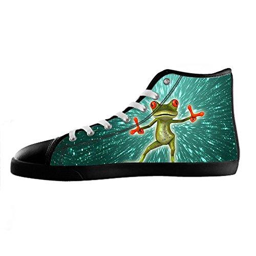 Excelente Precio Barato Custom Rana divertente Mens Canvas shoes I lacci delle scarpe in Alto sopra le scarpe da ginnastica di scarpe scarpe di Tela. Nuevo Precio Barato Unisex 6bEcjS5G