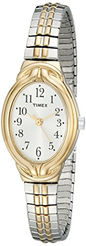 (Timex Women's T2N980 Greenmount Terrace Two-Tone Stainless Steel Expansion Band Watch)