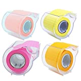 4A Roll Sticky Notes,Full Adhesive,Width x Length 2 x 315 Inches,Neon Yellow,Red,Pink and Orange,Grid,Self-Stick Notes,4 Roll/Pack,4A PSS 9-1 NYRPOGRID