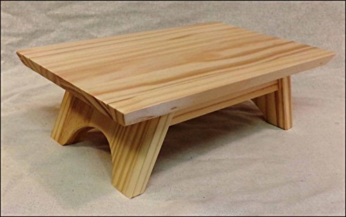 EarthBench Pedestal Stand ~ PINE (Shrine Table Pedestal: 15