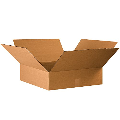 Boxes Fast BF22226 Corrugated Cardboard Flat Shipping Boxes, 22 x 22 x 6, for Clothing, Books, Picture Frames, Artwork, and Mirrors, Kraft (Pack of 15)
