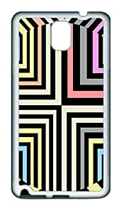 Optical Illusion Custom TPU Soft back Case for Samsung Galaxy Note 3 / Note III / N9000 White