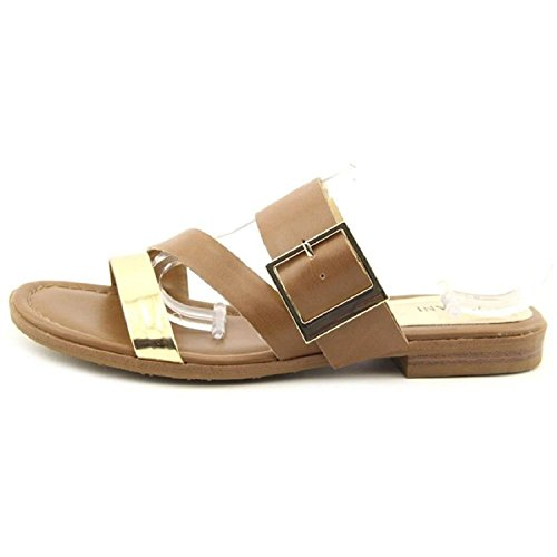 Alfani Womens Tison Slide Flat Sandals Gold / Tan d9S8T