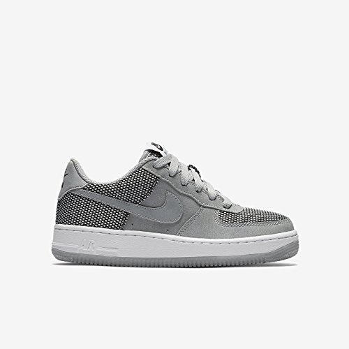 Nike Kids Air Force 1 Premium, Wolf Grey/Wolf Grey - Black - White, Youth Size 4.5 by NIKE