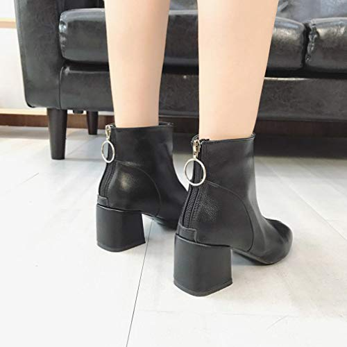 Martin Heels HOMEBABY Sexy Winter Ladies New Women Butterfly High Ankle Boots Boots Black Warm Boots vZBqwv