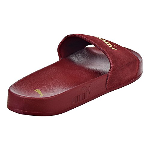 PUMA Men's Leadcat Suede Slide Sandal Red Dahlia/Puma Team Gold outlet footaction cheap low price fee shipping CI2WRDNUl