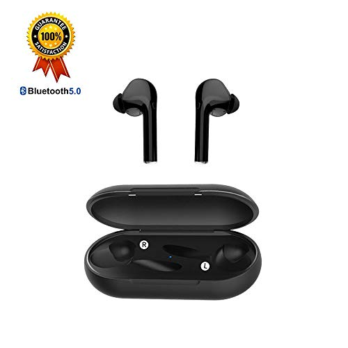 (True Wireless Earbuds Bluetooth Earbuds Wireless Earbuds - Bluetooth 5.0 Mini in Ear TWS Earbuds with Charging Case,Noise Cancelling Earbuds,Earbuds with Microphone for Hands-Free Calls (Black) )