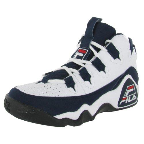 Fila La Chaussure De Basket-ball 95 Hommes Noir Sz 12 Blanc / Fila Marine / Fila Rouge