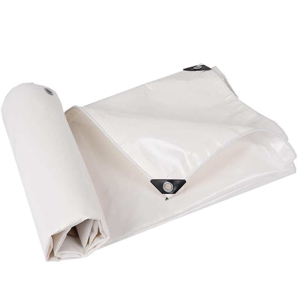 Lona Blanca Piel de Lluvia de PVC Gruesa al Aire Libre Sombra Sombra de Sol Tela Tela Impermeable Protector Solar (Tamaño : 3  4m)