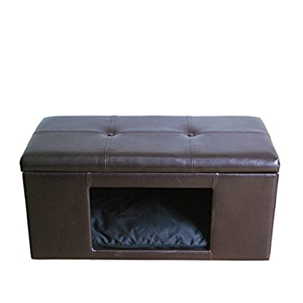 Excellent Amazon Com Homepop Comfy Hidden Pet Bed Ottoman Bench Inzonedesignstudio Interior Chair Design Inzonedesignstudiocom
