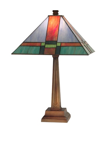 Cheap Dale Tiffany TT11047 Tranquility Mission Table Lamp, Antique Brass