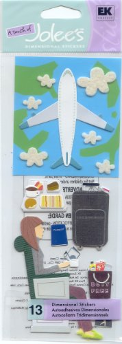 Jolees A Touch Of Jolees Dimensional Stickers, Plane Trip