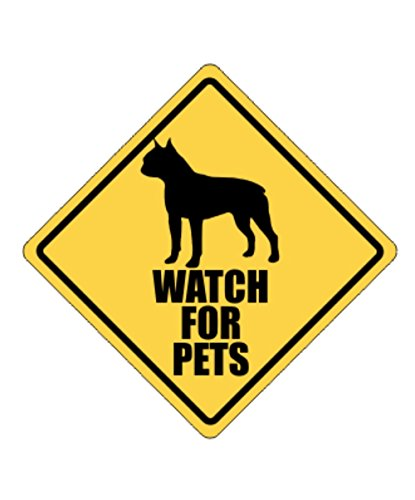 Idakoos - Watch for pets Boston Terrier - Dogs - Crossing...