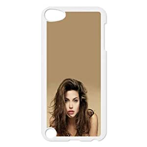 Celebrities Beautiful Angelina Jolie iPod Touch 5 Case White&Phone Accessory STC_079809