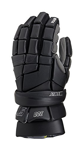 STX Lacrosse Stallion 300 Gloves, Black, 12'