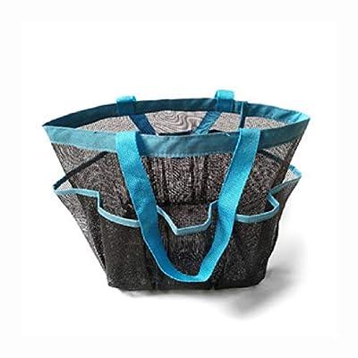 HEATAPPLY Travel Pouch Bag, Utendørs Reise Portable Mesh Beach Håndveske Tote Leker Storage Bag Pack Organizer Veske, Blue