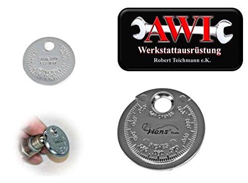 Zü ndkerzen Fü hlerlehre 0, 6 - 2, 4 mm (0, 02' - 0, 1') fü r Elektrodenabstand 02 - 0 1) fü r Elektrodenabstand HansTools