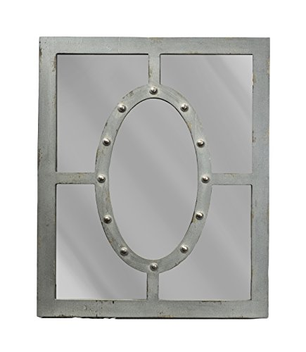 Sagebrook Home 11975 Wood & Glass Mirror, . Gray, Window Box