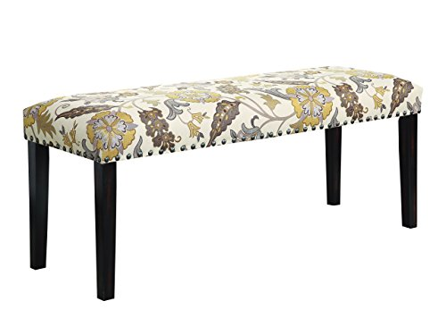 - Coaster Home Furnishings Coaster 100563 Bench, Floral Pattern
