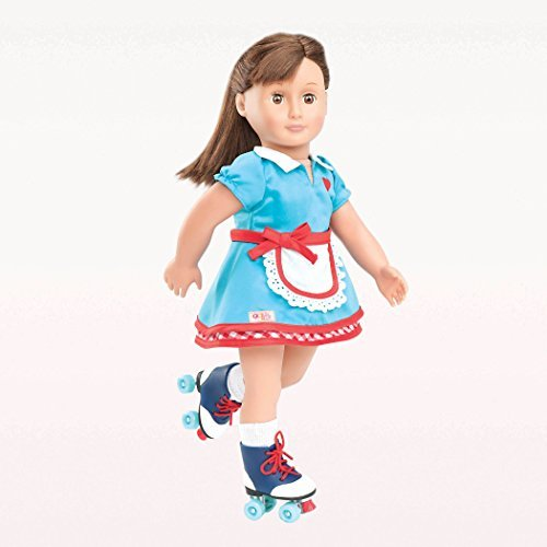 Our Generation Dolls Soda Pop Sweetheart Retro Roller Skate Outfit for Dolls, 18""