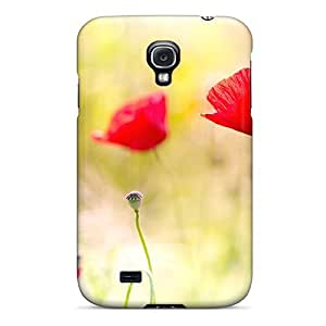 Premium Poppy Flowers S Screensavers Back Cover Snap On Case For Galaxy S4