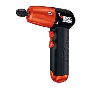 BLACK+DECKER AD600 6-Volt Alkaline 1/4-Inch Hex Cordless Drill/Driver wit