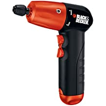 Black & Decker AD600 6-Volt Alkaline 1/4-Inch Hex Cordless Drill/Driver with Accessory Assortment