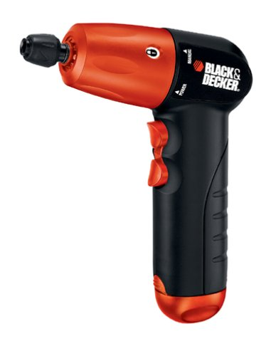BLACK+DECKER AD600 6-Volt Alkaline 1/4-Inch Hex Cordless Drill/Driver wit by BLACK+DECKER