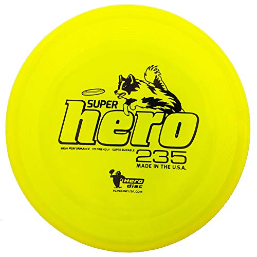Hero Disc Super Hero 235 K9 High Durability Dog and Sport Flying Disc [Colors May Vary]