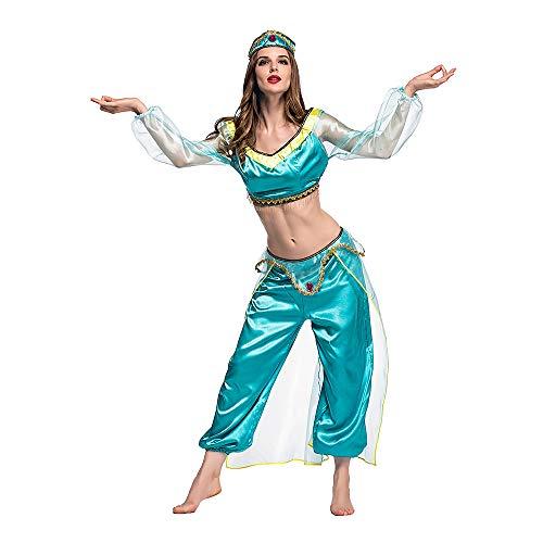 (Full Win Women Costume Arabian Princess Dress Up)