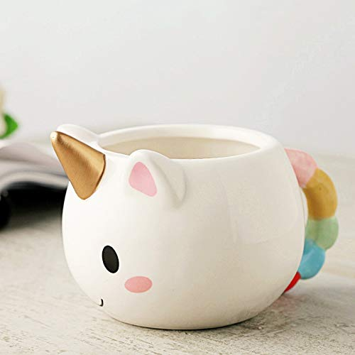   Coffee Cups & Mugs   Cute Ceramics Unicorn Cup Creative Coffee Cup New Year Gift For Children Birthday Water Tea Cup   by AQANATURE