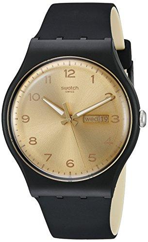 Swatch Unisex SUOB716 Originals Analog Display Swiss Quartz Black Watch -