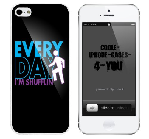 Iphone 5 Case Everyday I m shufflin Rahmen weiss