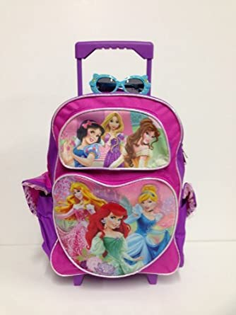 Amazon.com | Princess Large Rolling Backpack and Princess ...