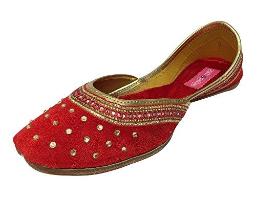 Step n Style - Sandalias de vestir para mujer rojo Red