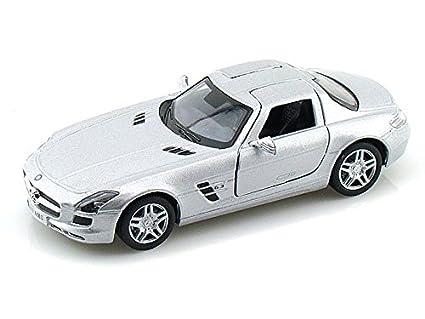 Amazon Com Mercedes Benz Sls Amg 1 36 Silver Toys Games