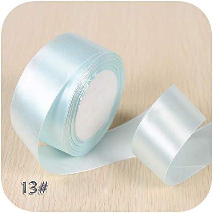 6ミリメートル1センチ1.5センチ2センチ2.5センチ4センチ5センチサテンリボンDIY人工シルクバラ工芸用品縫製アクセサリースクラップブッキング素材-NO 13 Light Blue-5cm