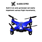 TASYA Spotrone Micro Video Drone with Built-in HD Camera, 6-Axis Gyroscope & Altitude Hold Function. 2.4Ghz Remote Control 4 Channels RTF Mini Quadcopter Toy - Blue