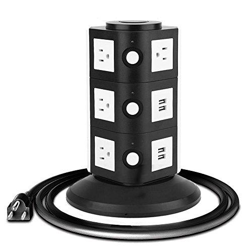 Power Strip 10-Outlet 4-USB Surge Protector Power Socket Strip - (Surge Socket)