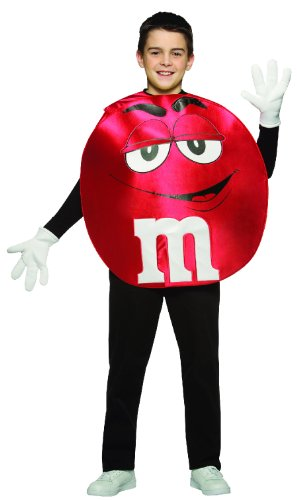 [Rasta Imposta M&M's Poncho, Red, Teen 13-16] (Halloween Costumes 03)