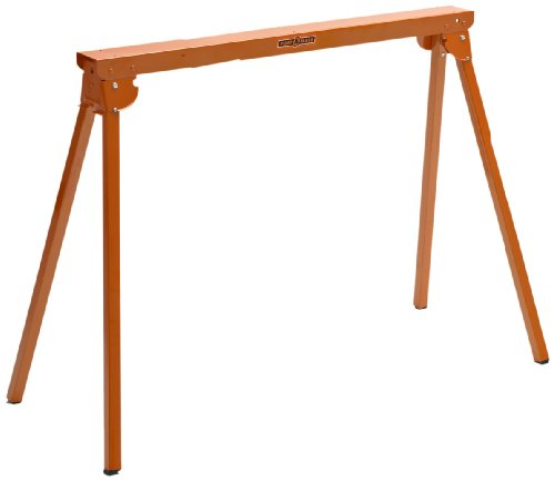 All Steel Folding Sawhorse - Pair Portamate PM-3300T. TWO 33-Inch Tall Fold-up Heavy Duty Saw Horses. Fully Assembled, 1,000lb. Capacity (500lbs. each) and Quickly Folds Up for Easy Storage (Legs Sawhorse)