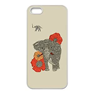 Beautiful flowers elephant Cell Phone Case for iPhone 5S