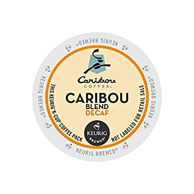 Caribou Coffee, Caribou Blend Decaf, K-Cup Portion Pack for Keurig K-Cup Brewers