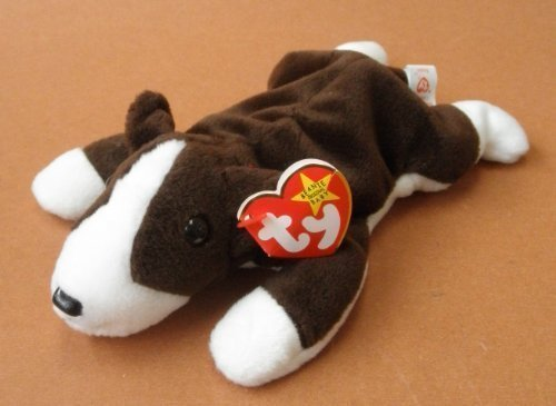 TY Beanie Babies Bruno the Pit Bull Dog Plush Toy Stuffed Animal by Unknown ()