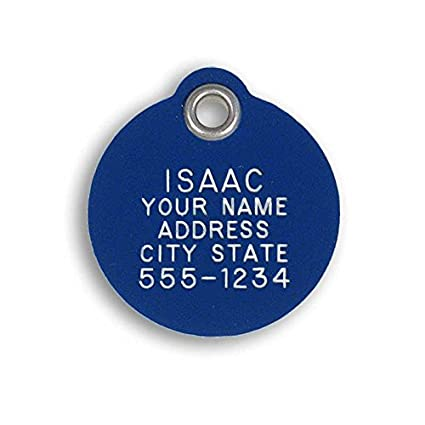 62c00bf17371 LuckyPet Pet ID Tag - Round - Custom engraved dog & cat ID tags. Pet safety  tag has reflective coating and is available in plastic, stainless steel and  ...