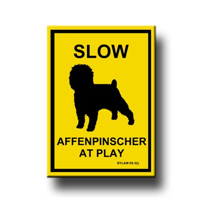 Affenpinscher Slow At Play Fridge Magnet