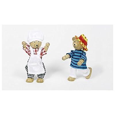Goki Flexible Puppets Bears Benna & Bennoh with Wardrobe Doll: Toys & Games