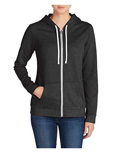 Eddie Bauer Women's Camp Fleece Full-Zip Hoodie, HTR Gray Regular L